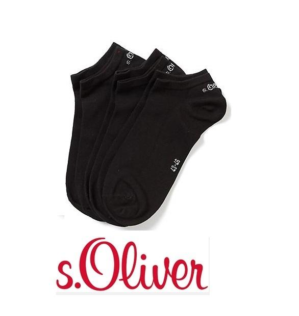s.oliver- (S24001) - sneaker Socken - 3er Pack - Farbe schwarz ... 9ef4bbdd0e
