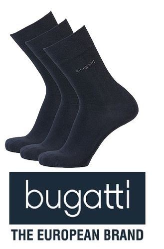 bugatti - Business Socken - 3er Pack - dunkelblau
